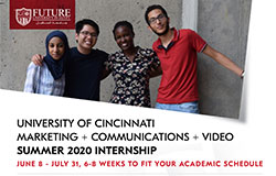 University of Cincinnati Marketing + Communications + Video Summer 2020 Internship